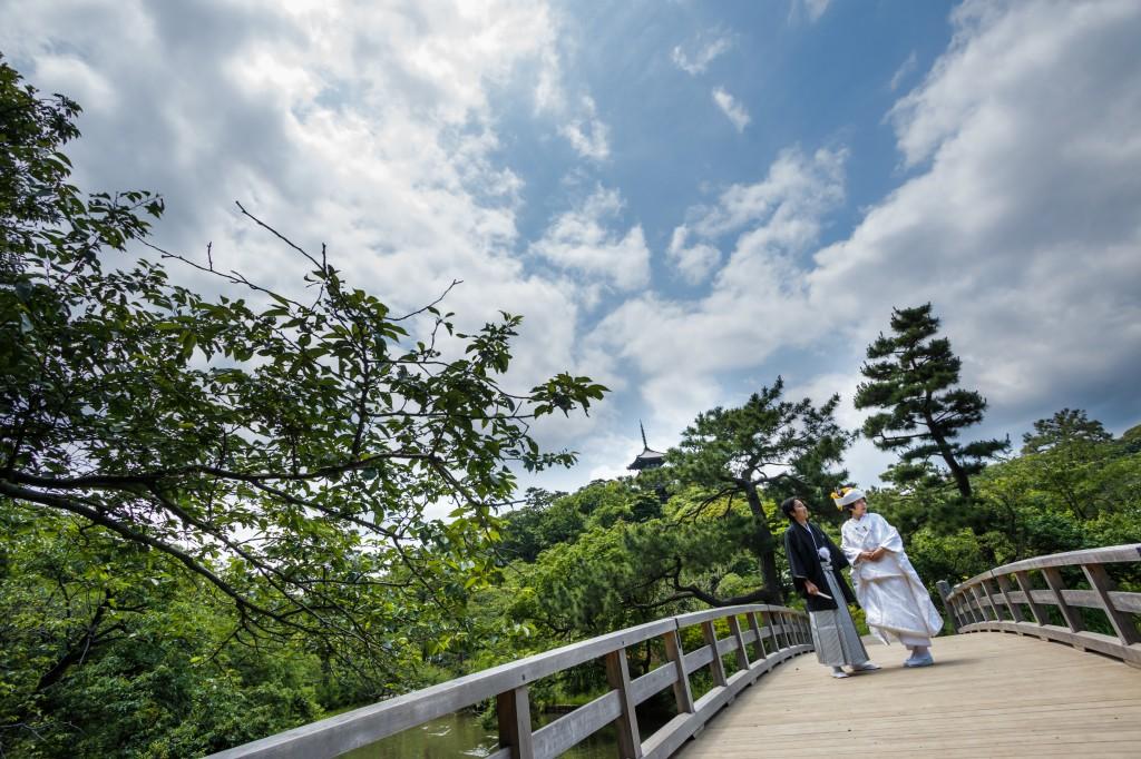 三渓園 結婚式 橋