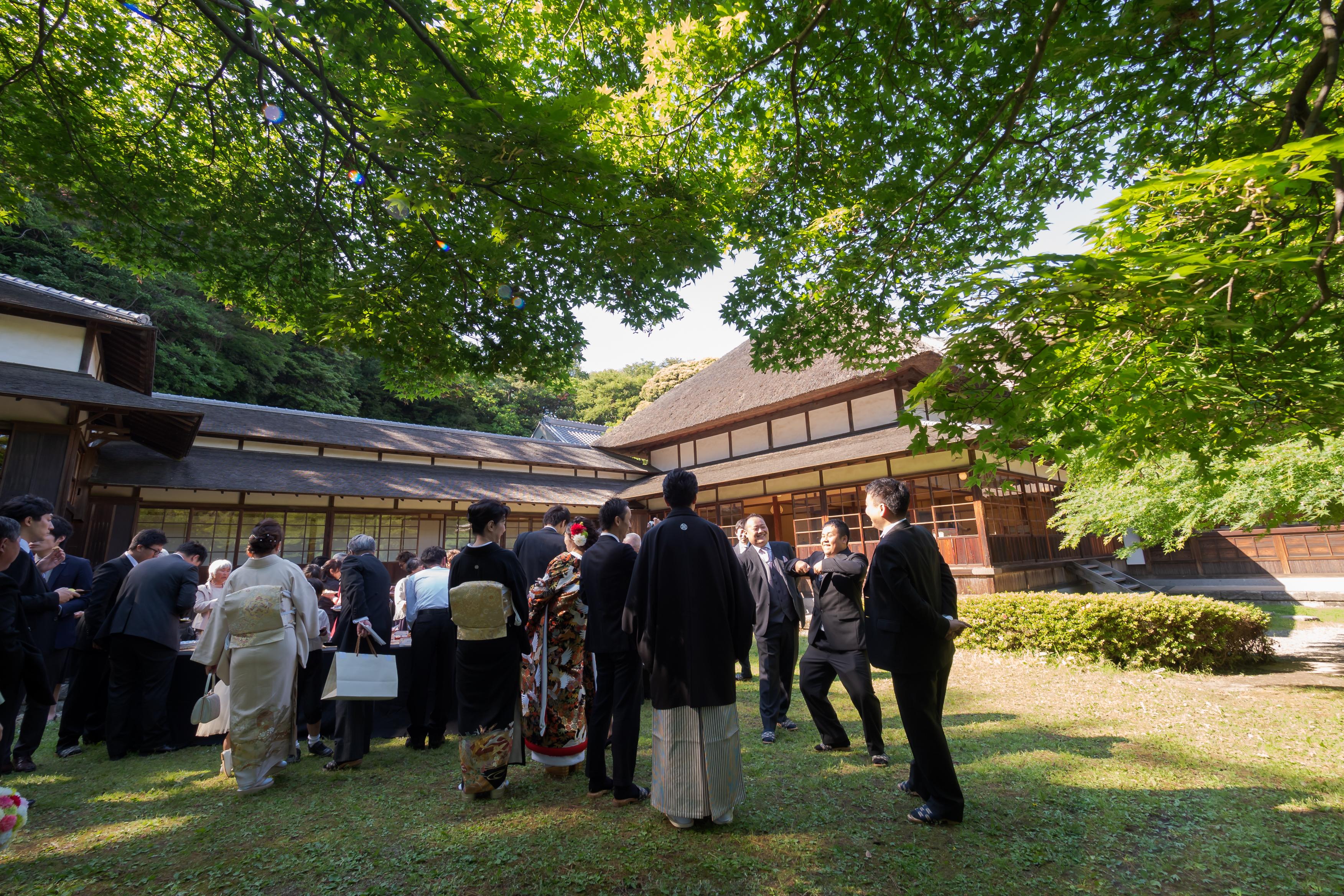 和風演出に取り入れたい!日本庭園で和菓子ビュッフェ♪